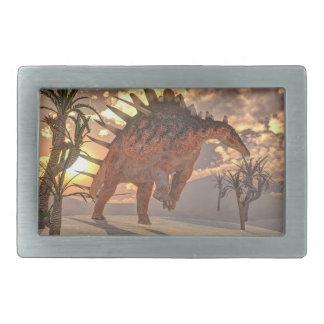Kentrosaurus dinosaur - 3D render Rectangular Belt Buckle