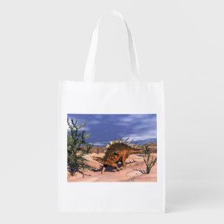 Kentrosaurus dinosaur - 3D render Reusable Grocery Bag