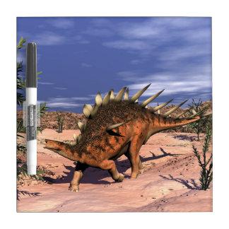 Kentrosaurus dinosaur dry erase board