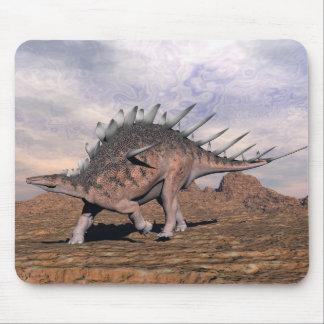 Kentrosaurus dinosaur in the desert - 3D render Mouse Pad