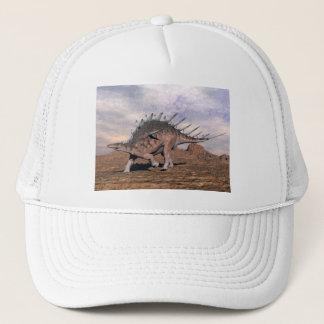 Kentrosaurus dinosaur in the desert - 3D render Trucker Hat