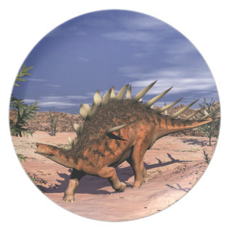 Kentrosaurus dinosaur party plate