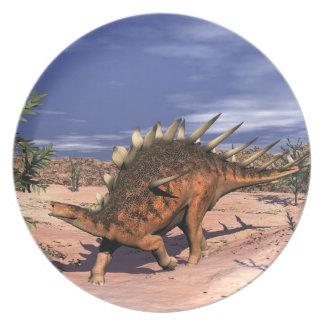 Kentrosaurus dinosaur plate
