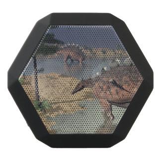Kentrosaurus dinosaurs in the desert - 3D render Black Bluetooth Speaker