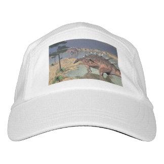 Kentrosaurus dinosaurs in the desert - 3D render Hat