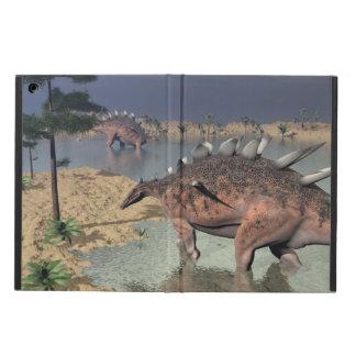 Kentrosaurus dinosaurs in the desert - 3D render iPad Air Cover