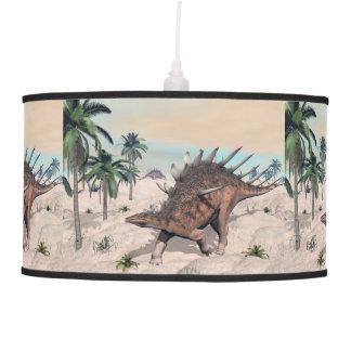 Kentrosaurus dinosaurs in the desert - 3D render Pendant Lamp