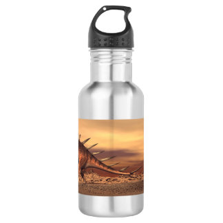 Kentrosaurus dinosaurs mum and baby - 3D render 532 Ml Water Bottle