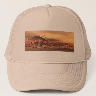 Kentrosaurus dinosaurs mum and baby - 3D render Trucker Hat