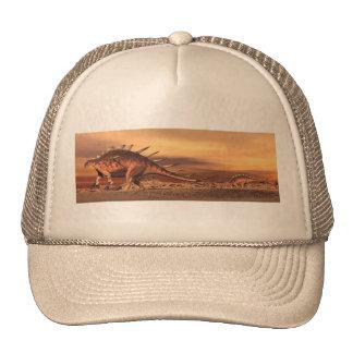 Kentrosaurus dinosaurs mum and baby - 3D render Trucker Hat