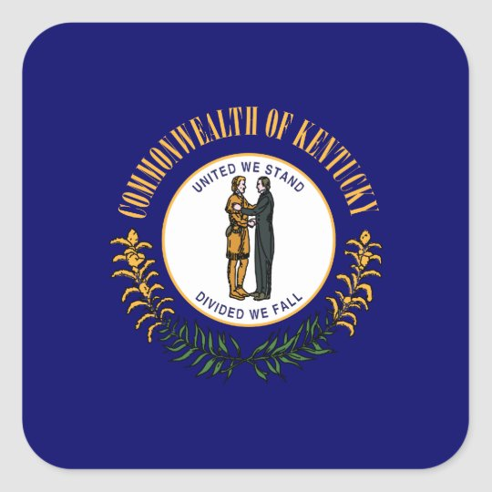 Kentuckee Flag Square Sticker