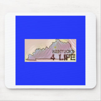 """Kentucky 4 Life"" State Map Pride Design Mouse Pad"