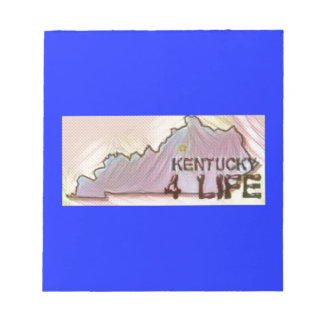 """""""Kentucky 4 Life"""" State Map Pride Design Notepads"""