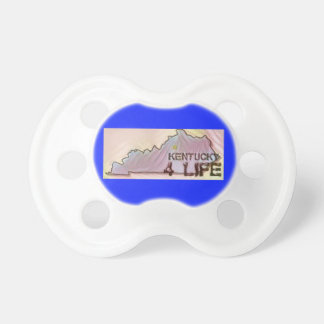 """Kentucky 4 Life"" State Map Pride Design Pacifier"