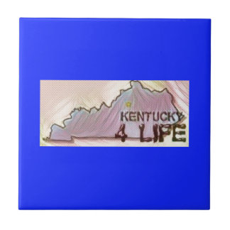 """Kentucky 4 Life"" State Map Pride Design Tile"