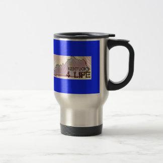"""Kentucky 4 Life"" State Map Pride Design Travel Mug"
