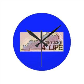 """""""Kentucky 4 Life"""" State Map Pride Design Wallclock"""