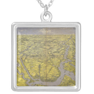 Kentucky and Tennessee 5 Silver Plated Necklace