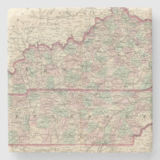 Kentucky and Tennessee Stone Coaster