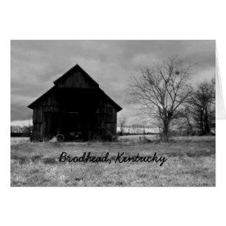 Kentucky Barn Card