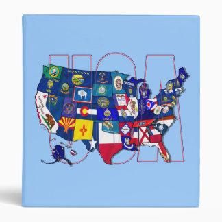 Kentucky Blue hole USA state flag map Binder