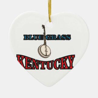 Kentucky Bluegrass art Ceramic Ornament