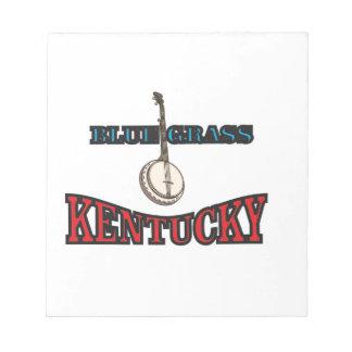 Kentucky Bluegrass art Notepad