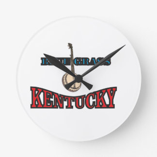 Kentucky Bluegrass art Round Clock