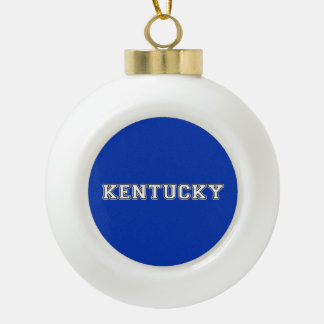 Kentucky Ceramic Ball Christmas Ornament