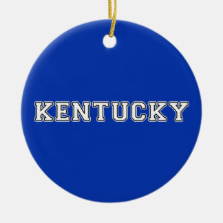 Kentucky Ceramic Ornament