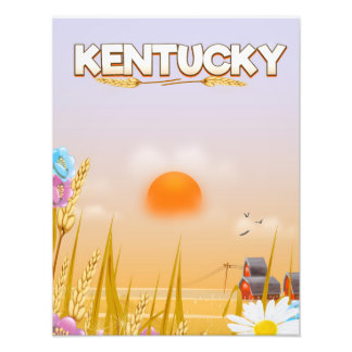 Kentucky Cute Farm travel poster