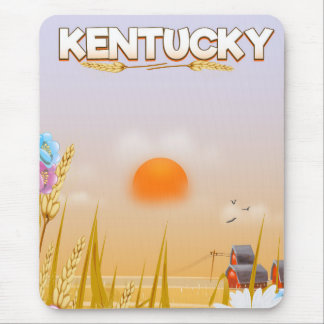 Kentucky Cute Farm travel poster Mouse Pad
