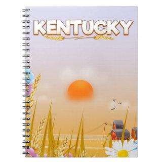Kentucky Cute Farm travel poster Notebook