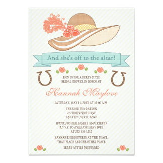 KENTUCKY DERBY HAT BRIDAL SHOWER INVITATION
