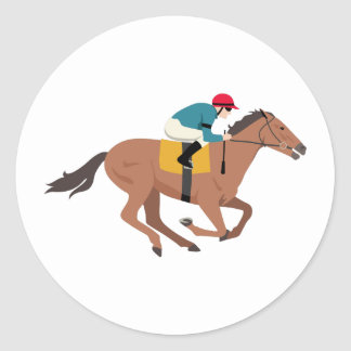 Kentucky Derby Horse Rider Classic Round Sticker
