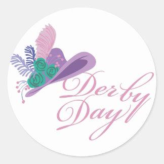 Kentucky Derby Ladies Hat Derby Day Classic Round Sticker