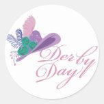 Kentucky Derby Ladies Hat Derby Day Round Sticker