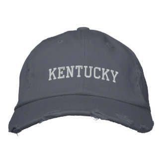 Kentucky Disstressed Embroidered Adjustable Hat