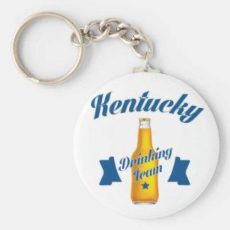 Kentucky Drinking team Basic Round Button Keychain