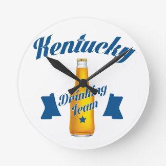 Kentucky Drinking team Round Clock