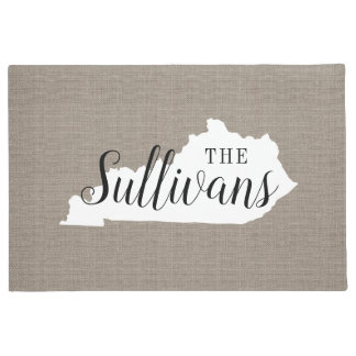 Kentucky Family Monogram State Doormat