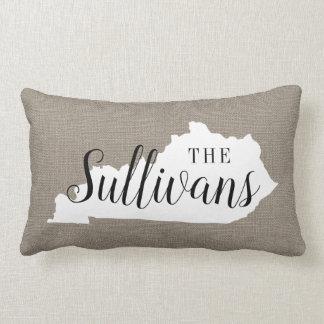 Kentucky Family Monogram State Throw Pillow