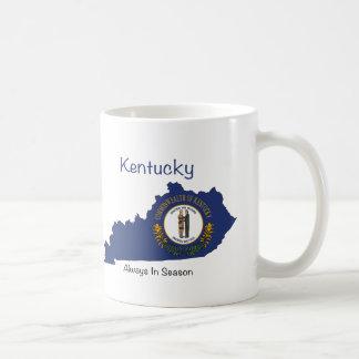 Kentucky Flag and Map Coffee Mug