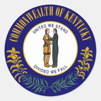 Kentucky Flag Classic Round Sticker