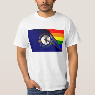 Kentucky Flag Gay Pride Rainbow T-Shirt