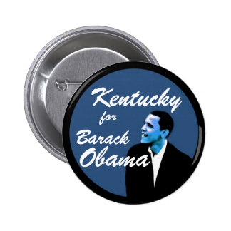 Kentucky for Barack Obama Pinback Buttons