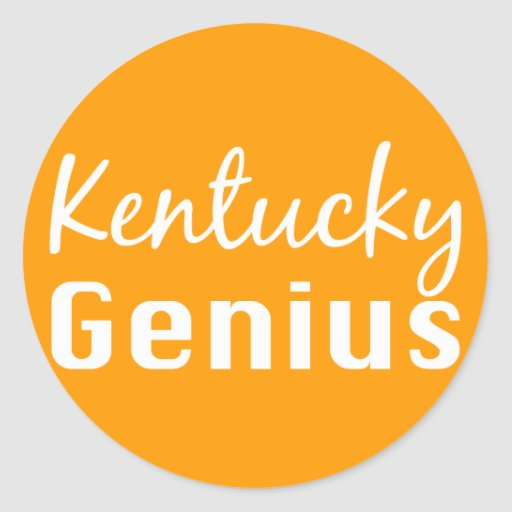Kentucky Genius Gifts Round Stickers