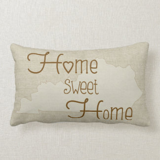 Kentucky-Home Sweet Home burlap-look custom name Lumbar Pillow