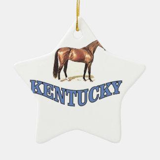 Kentucky horse ceramic ornament