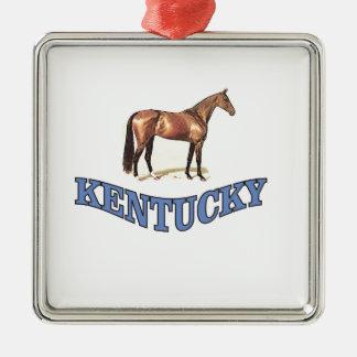 Kentucky horse metal ornament
